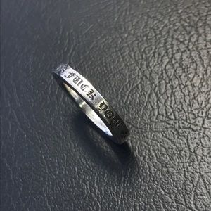 Preowned chrome hearts LA F you ring